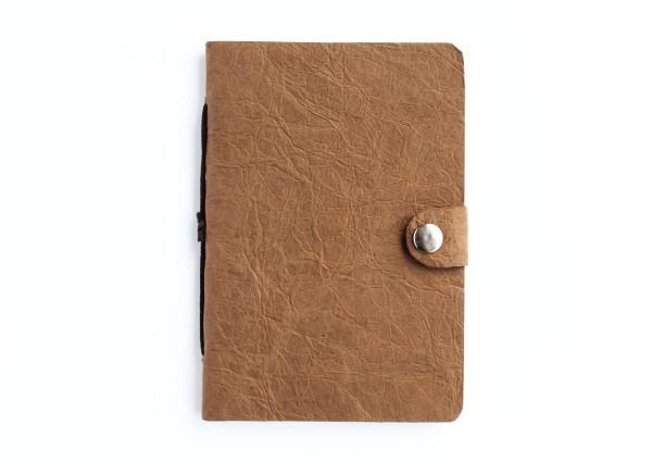 Kunstleder-Notizbuch braun - klein