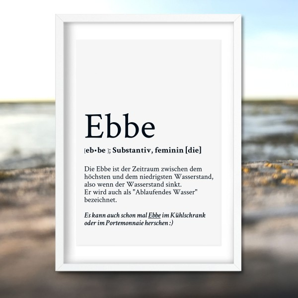 Kunstdruck Definition Ebbe im Rahmen