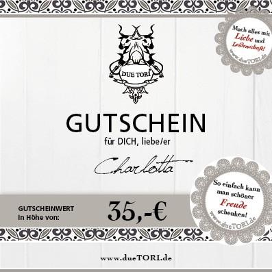 35,- € GUTSCHEIN für individuelle Geschenke