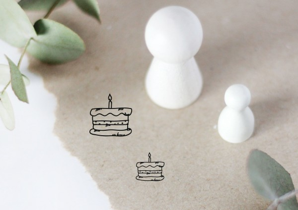 Torte mit Kerze Motivstempel