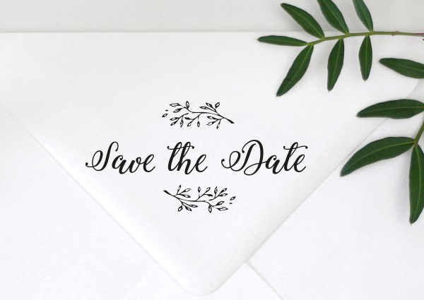 Stempel Textstempel Spruch Save the Date