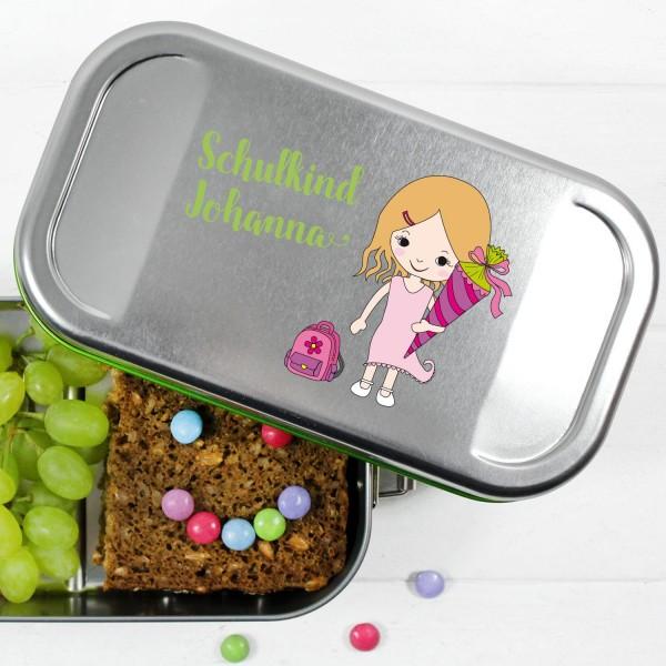 Brotdose BPA-frei mit Trennwand individuell mit Namen