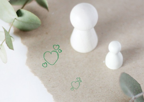 Herz Herzen Motivstempel Stempel Ministempel Doodlestamp