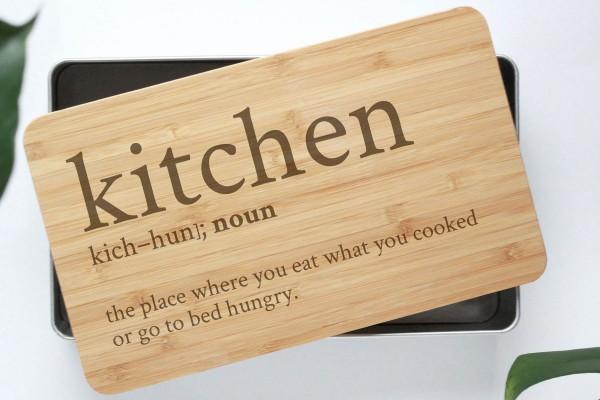 definition Gebäckdose Kitchen mit Bambusbrettchen