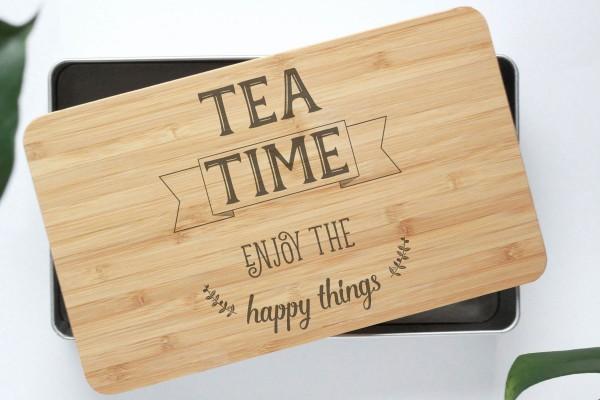 Teebox Teekiste mit Bambusdeckel für Teezeremonie für Gelassenheit und Ruhe