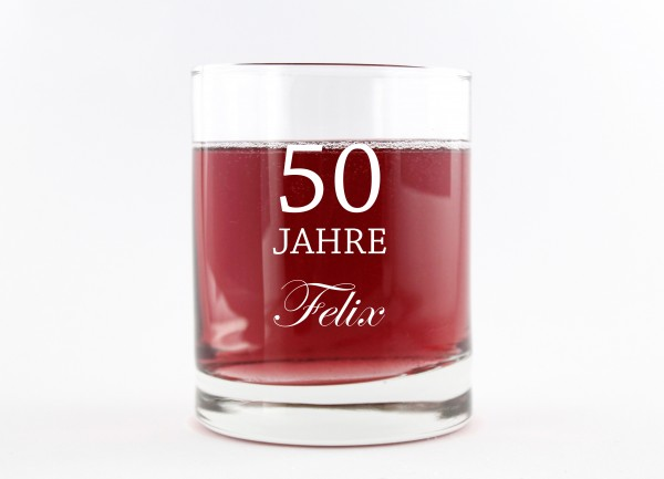 Trinkglas - Whiskeyglas mit Spruch
