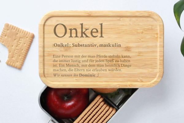 Brotdose für Bruder uncle Onkel Definition Geschenk Lunchbox