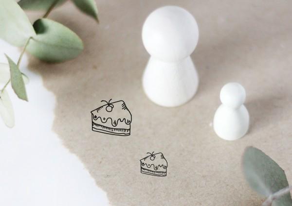 Torte Tortenstück Motivstempel