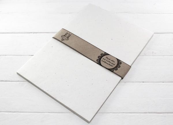 Briefpapier Handgeschöpft weiss