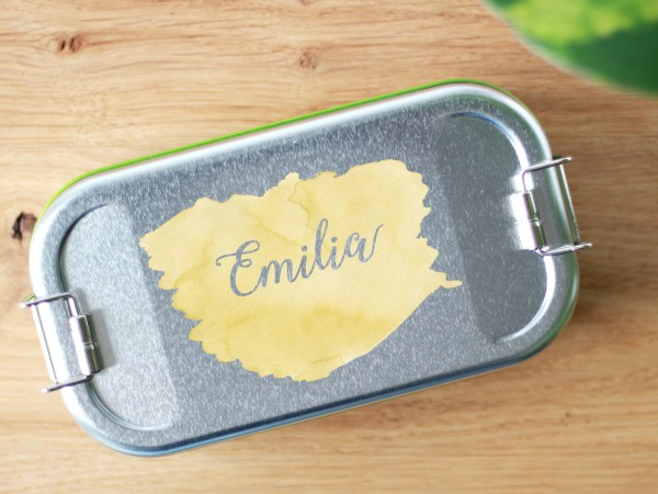 Lunchbox Brotdose Aquarell Handgeschrieben