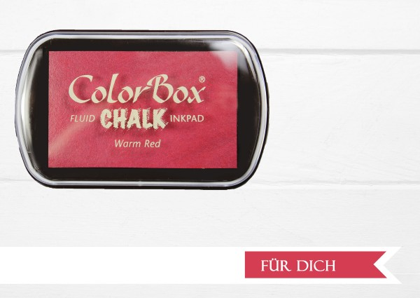 Chalk Stempelkissen Warm Red XL