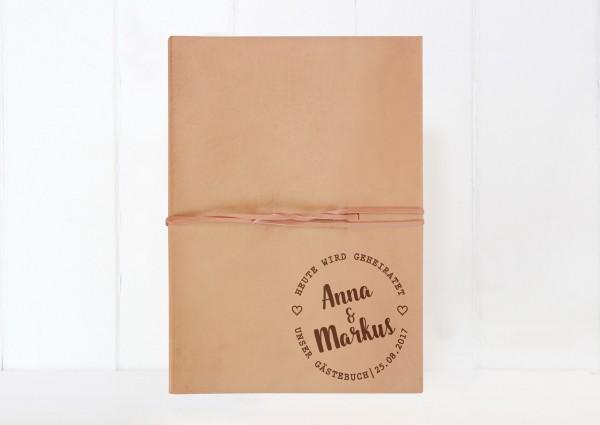XL Fotobuch Leder - Heute wird geheiratet!