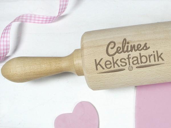 Nudelholz personalisiert, Keksfabrik