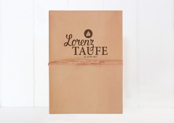 XL Fotoalbum Leder - Zur Taufe