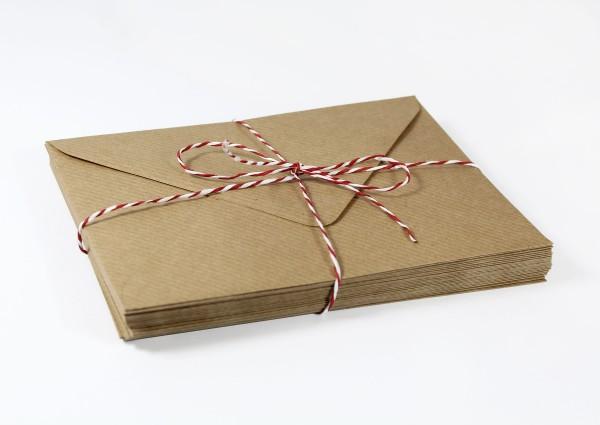 20 Umschläge Naturpapier gerippt DinC6