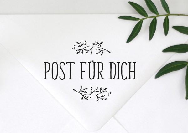 Stempel Textstempel Spruch Post für Dich