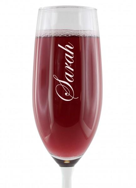 Sektglas - mit Name personalisiert
