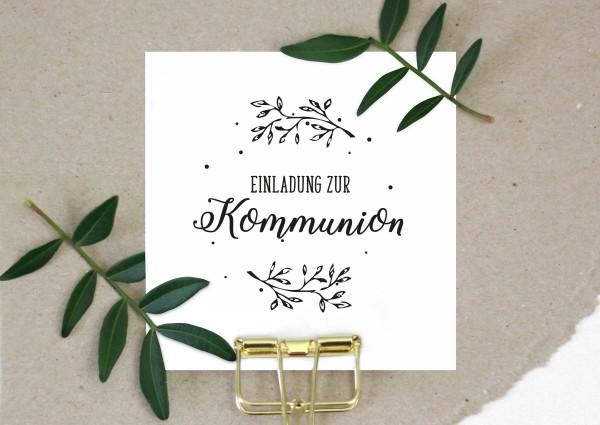Stempel Textstempel Spruchstempel Einladung zur Kommunion