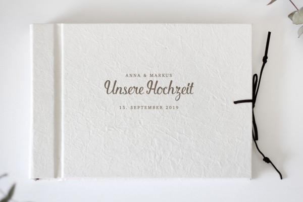 Album Elfenbein Lederoptik zur Hochzeit oder Taufe