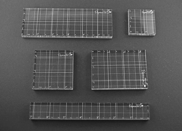 5er Set Acryl Platten für Silikonstempel