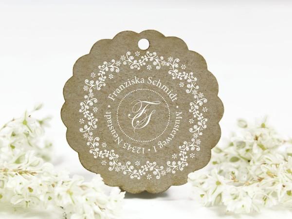 Adressstempel - Blumenranke - Naturornament - personalisiert