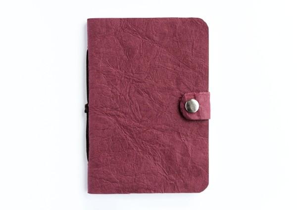 Kunstleder-Notizbuch rot - klein