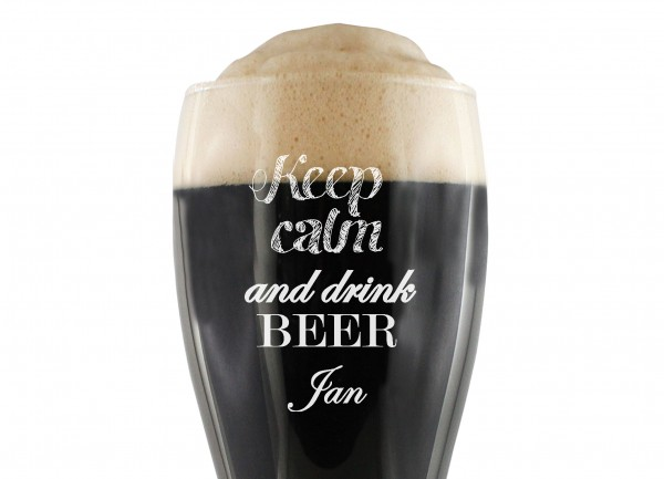 Personalisiertes Weizenbier Glas -´Keep calm and drink BEER´