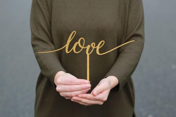 Cake Topper Schriftzug LOVE Liebeserklärung