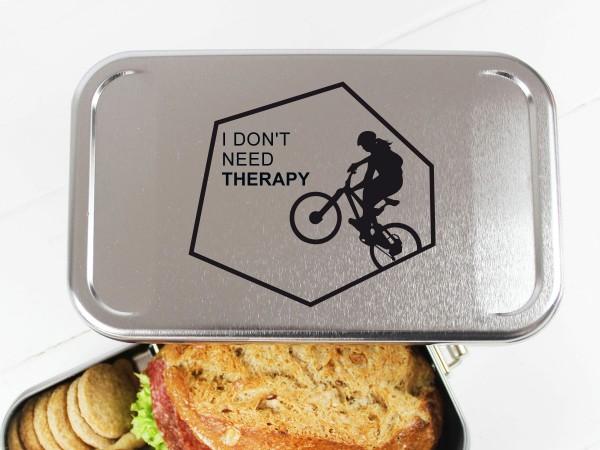 Nachhaltige Brotdose mit Name auf Lunchbox für Biker MTB