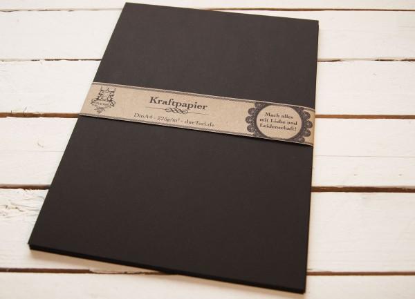 A3 Karton Papier schwarz