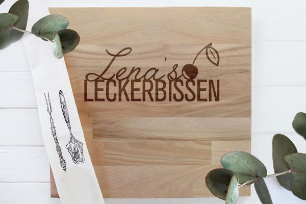 Geschenk Schneidebrett für Hobbykoch neue Küche Leckerbissen