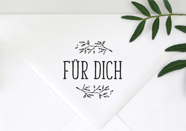Stempel Textstempel Spruchstempel FÜR DICH