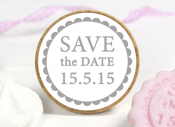 KEKSSTEMPEL - SAVE THE DATE - personalisiert