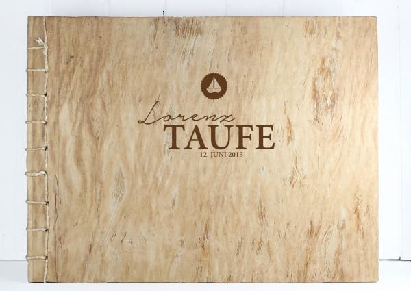 """Gästebuch """"Zur Taufe"""" - Fotobuch Holz XL"""