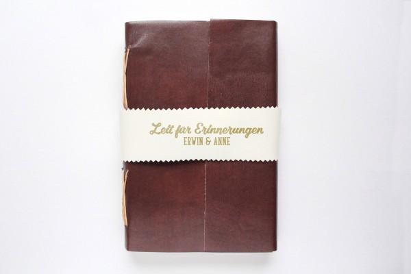 Lederbuch oder Tagebuch - personalisiert in braun