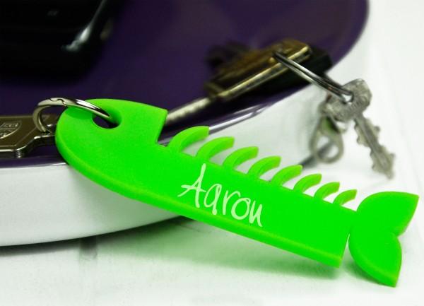 Personalisierter Schlüsselanhänger als Fisch
