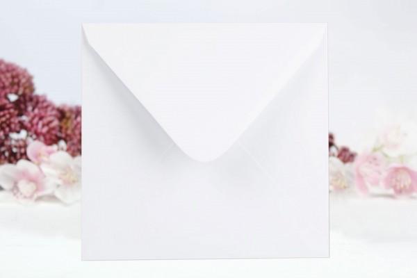 20 Umschläge Weiß glatt - quadratisch 15 x 15