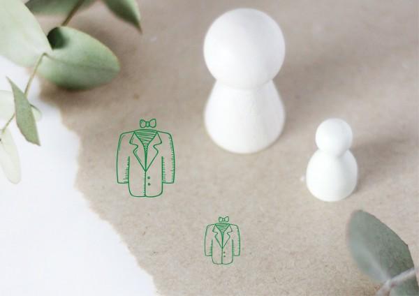 Anzug Hochzeitsanzug Motivstempel