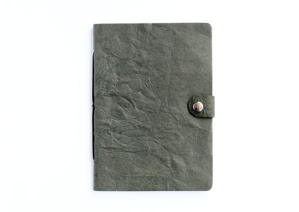 Kunstleder-Notizbuch grau - A6 Format