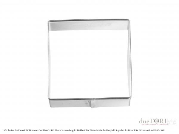 Plätzchen Ausstecher Quadrat glatt 50mm für Keksstempel