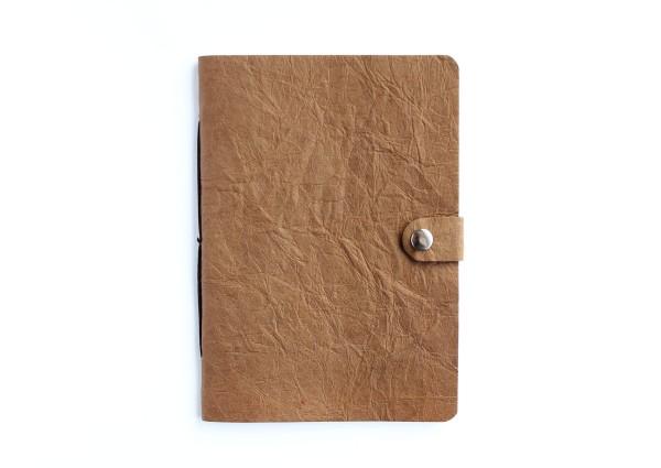 Kunstleder-Notizbuch braun - A6 Format