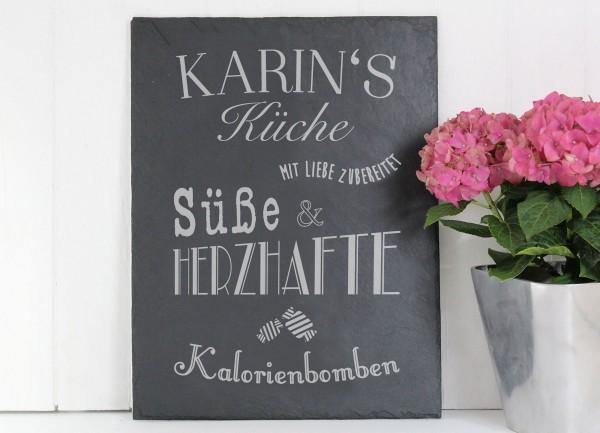 Mit Liebe aus meiner Küche - Personalisierte Schieferplatte