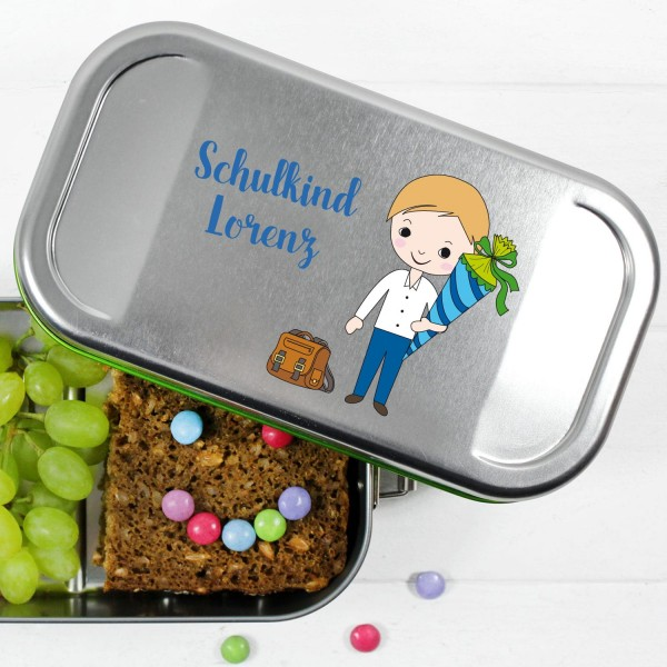 Lunchbox gesundes frühstück mit namen und figur personalisiert,