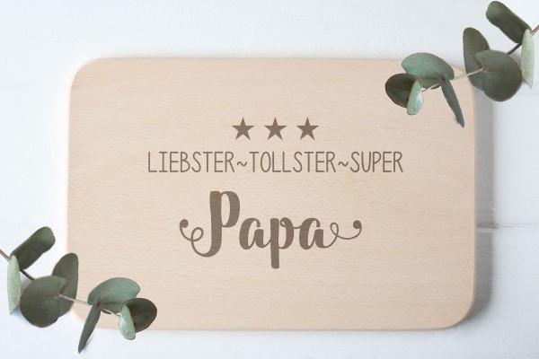 Kinderbrettchen Brotzeitbrettchen mit namen für Papa ganze Familie