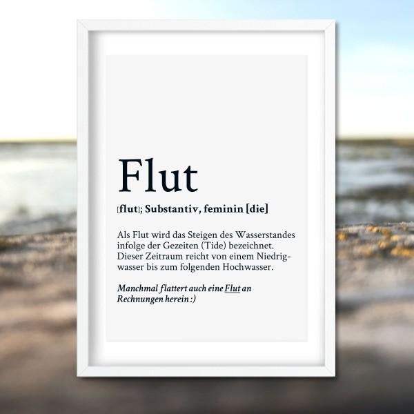 Kunstdruck Definition Flut im Rahmen