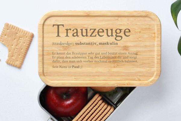 Brotdose für Trauzeuge Definition Geschenk Lunchbox