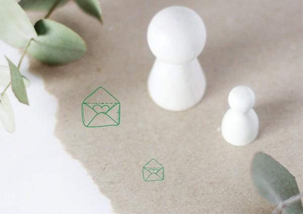 Antwort Brief Einladung Motivstempel