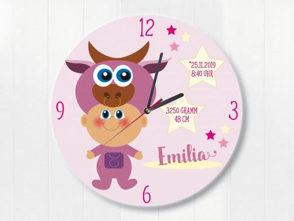 Sternzeichen Stier Uhr zur Geburt mit Namen und Geburtsdaten