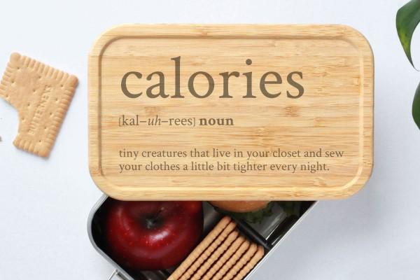 Definition Calouries Brotdose Geschenk graviert Bambus