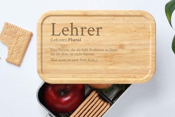 Brotdose mit Bambusdeckel - Definition Lehrer
